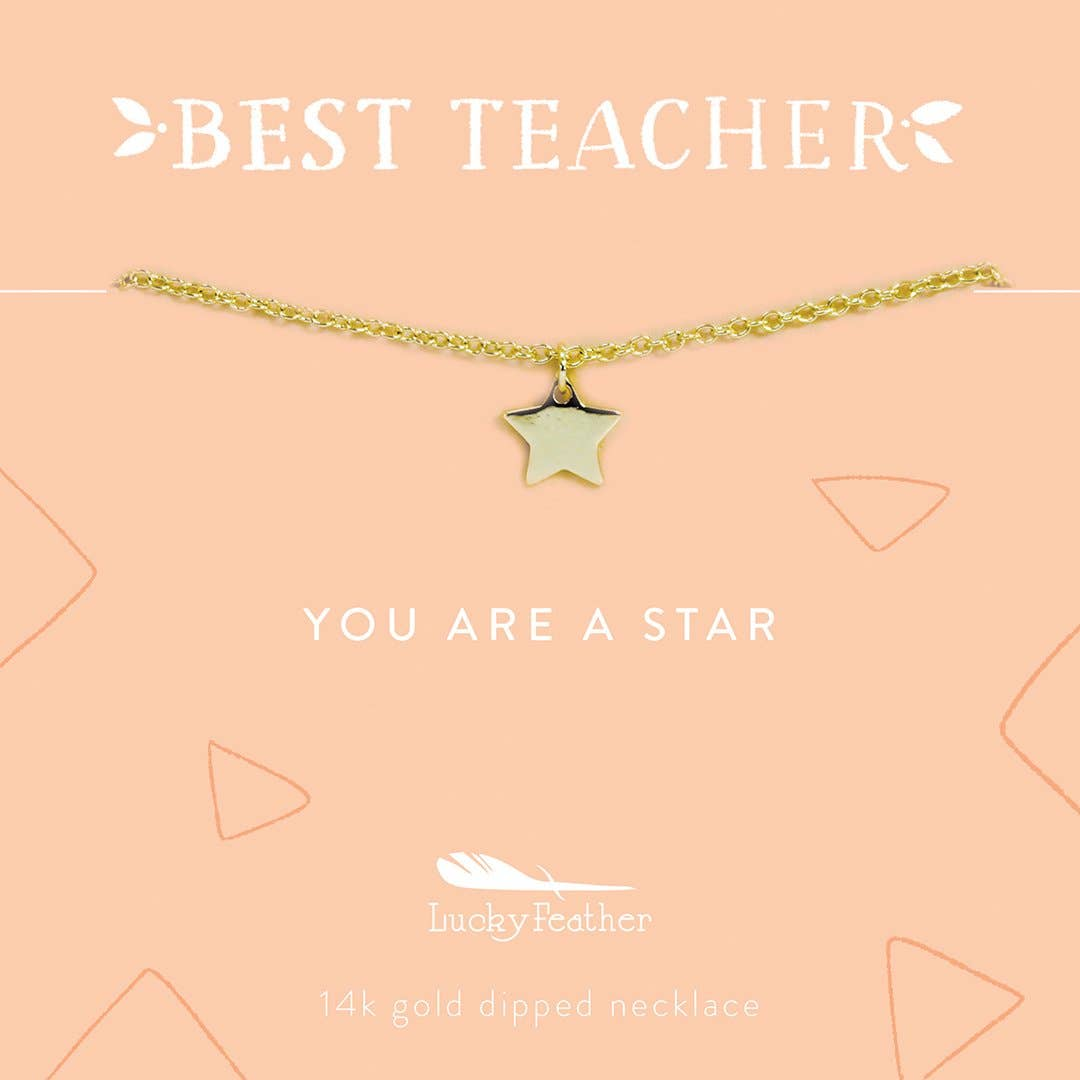 You are a Star Teacher Necklace