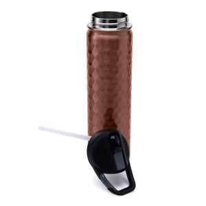 SIC 27 ounce Stainless Steel Water Bottle - Hammered Copper
