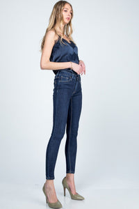 Basic Mid Rise Skinnies - Dark