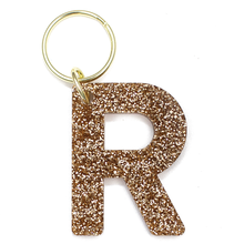 Load image into Gallery viewer, Glitter Keychain - LETTER