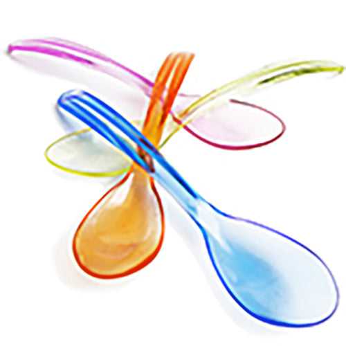 Yogurt Spoons Mixed Transparent Colors