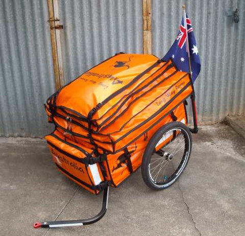 Custom made set of bicycle bags trailer