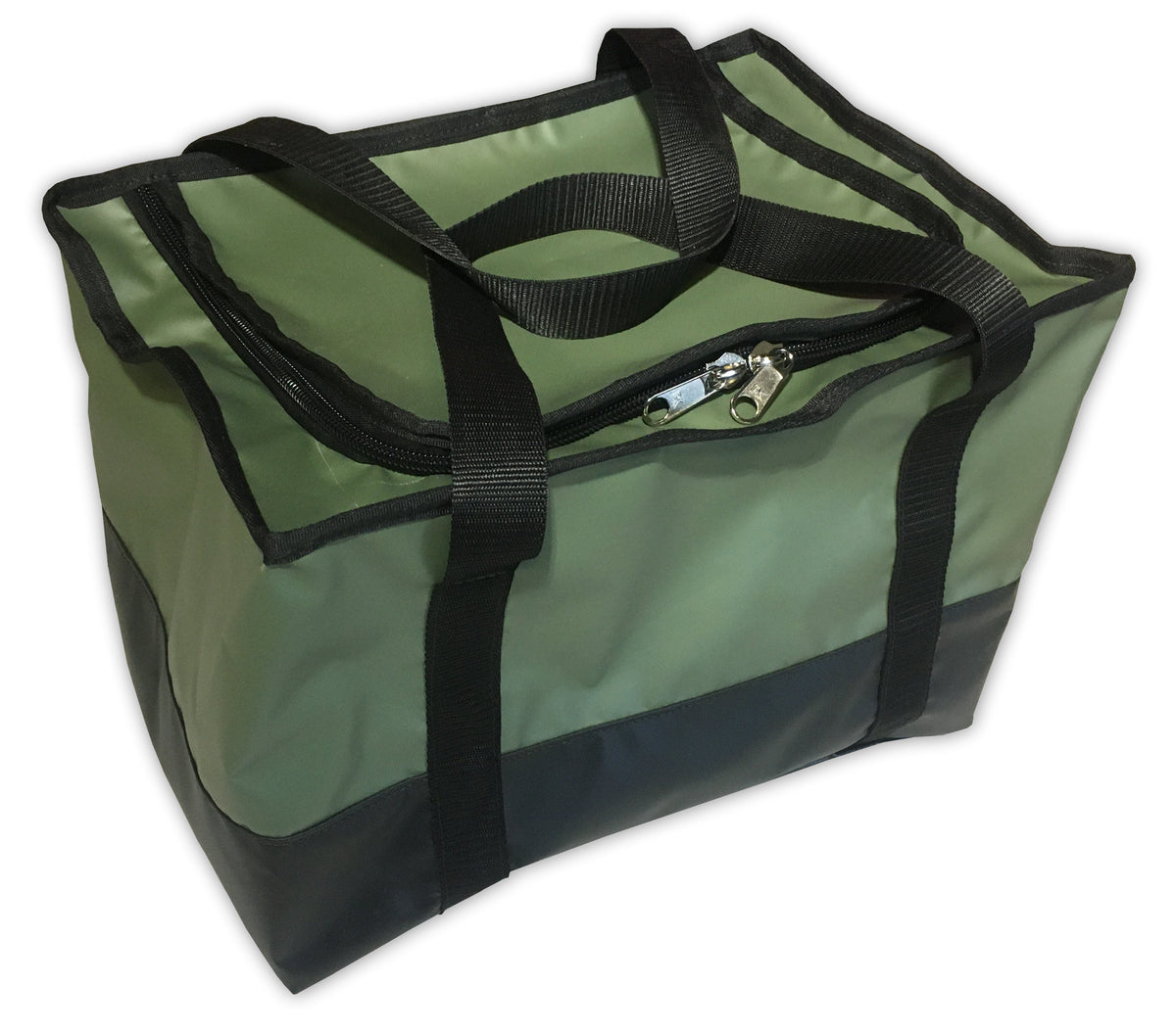Olive green 4x4 and horse racing gear bag