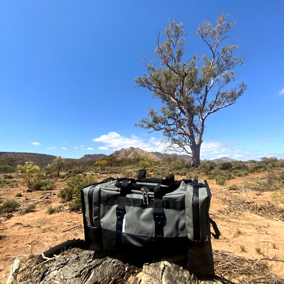 Canvas bag in the Flinders Ranges