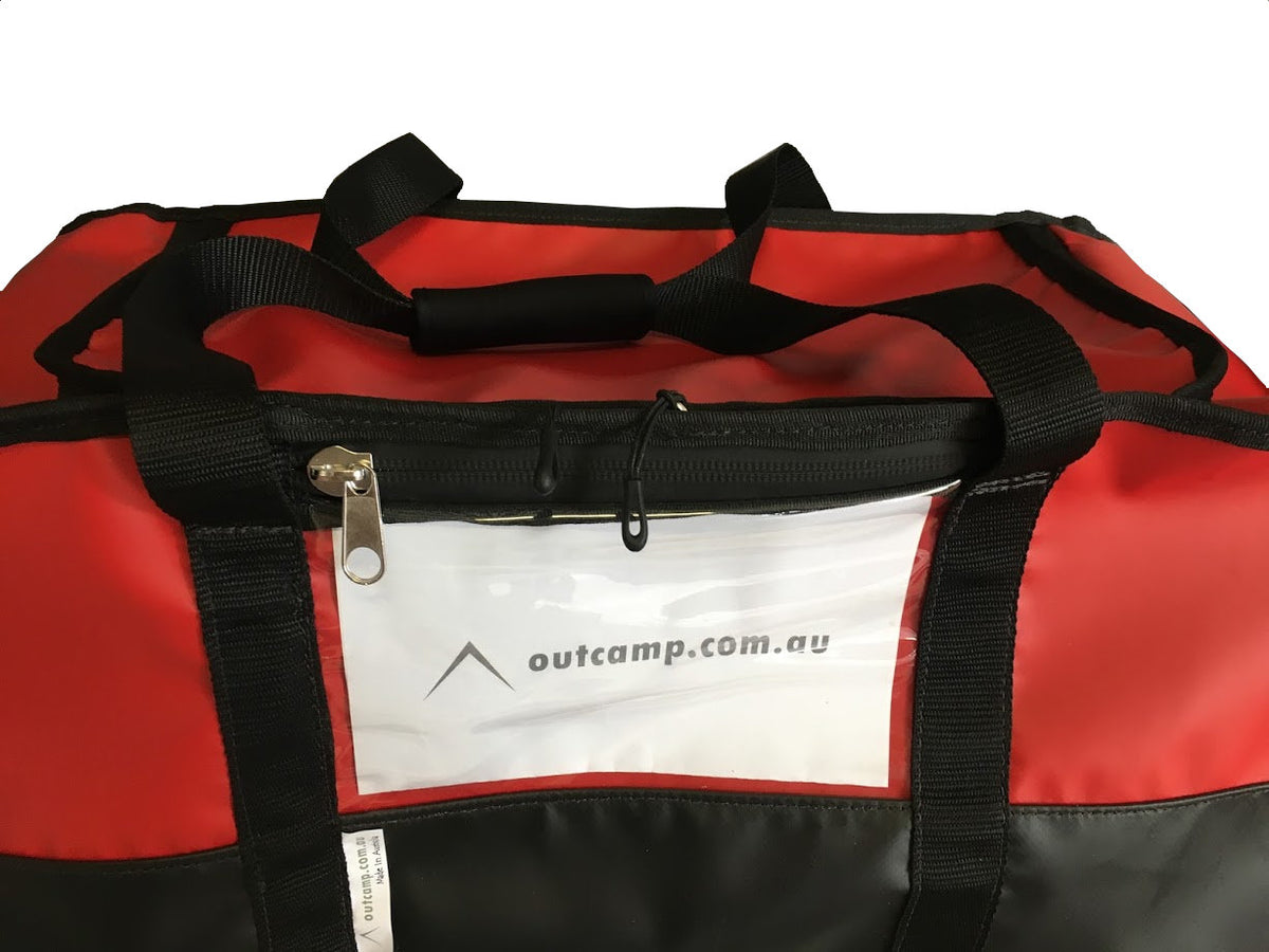 name pouch on fire fighting gear bag
