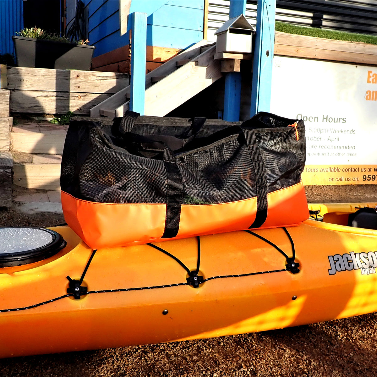 Kayak gear and equipment carry bag