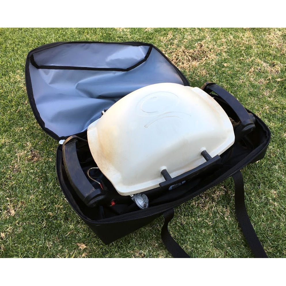 Weber Q cover and carry bag to take your Weber on holidays