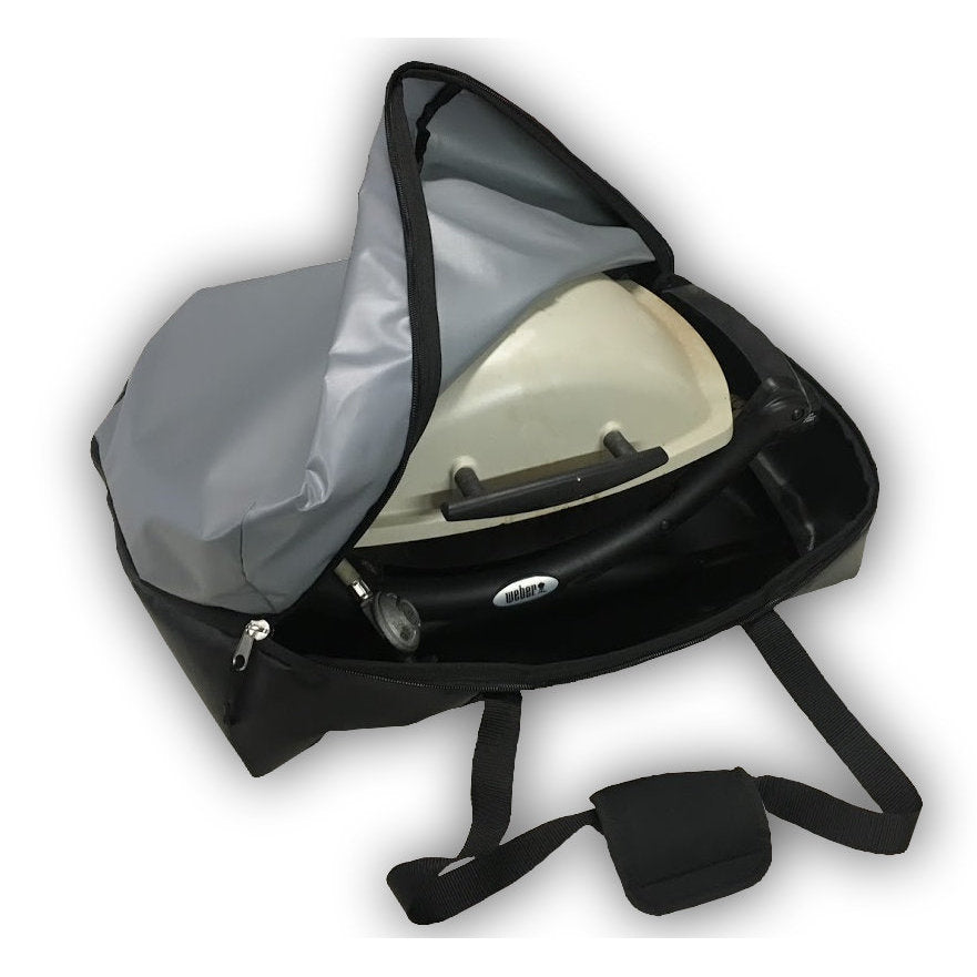 Weber Q carry bag to keep the smell out of the car