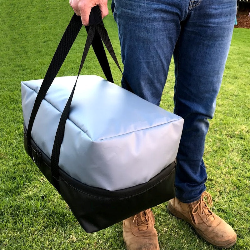 Waterproof Weber Go Anywhere carry bag to keep the caravan clean. Take your Weber BBQ tailgating