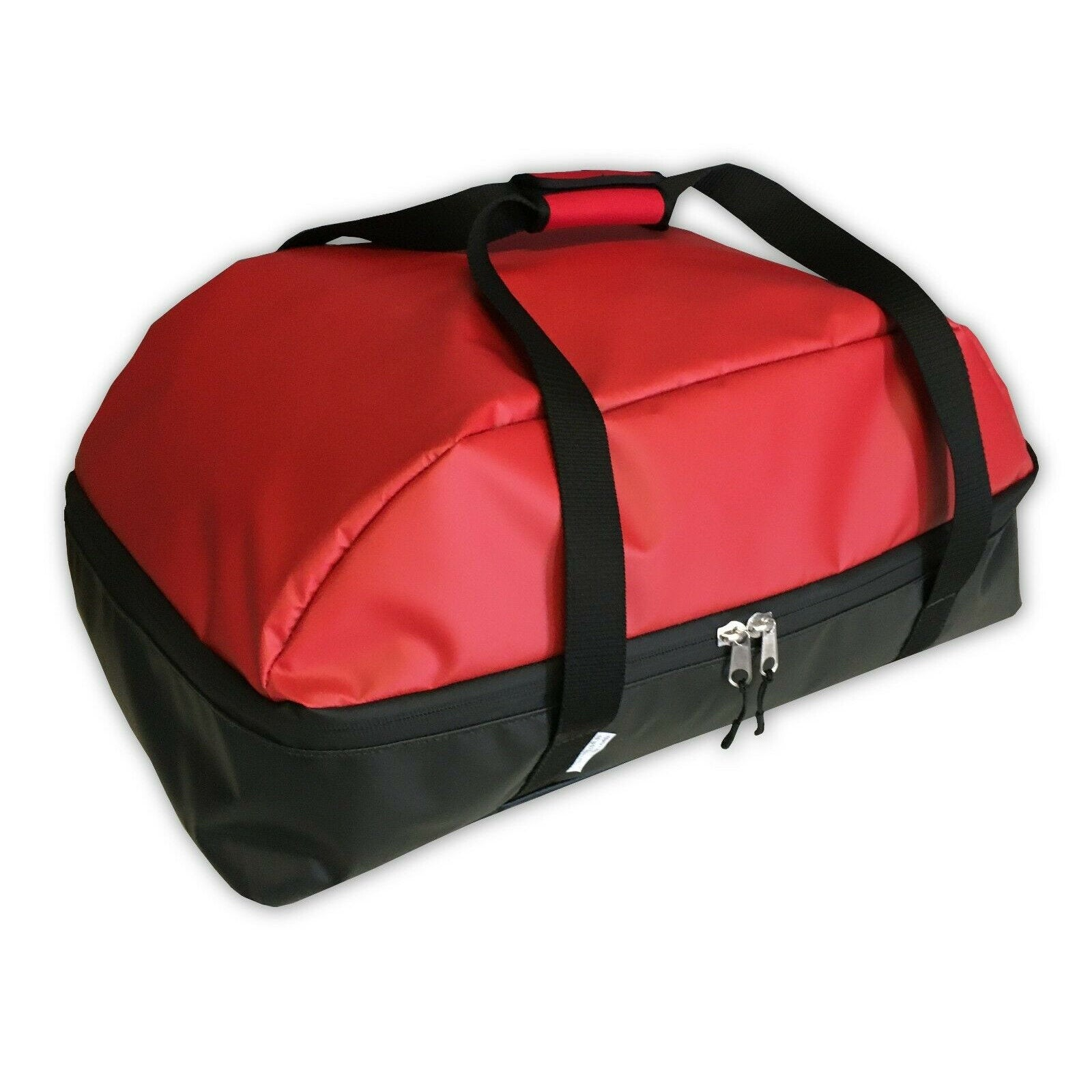 Weber Q1200 carry bag in red, waterproof fabric