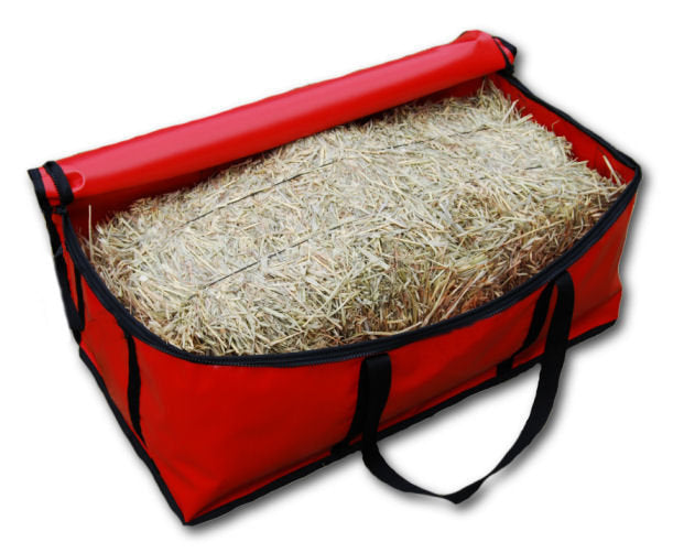 Waterproof horse hay bale carry bag