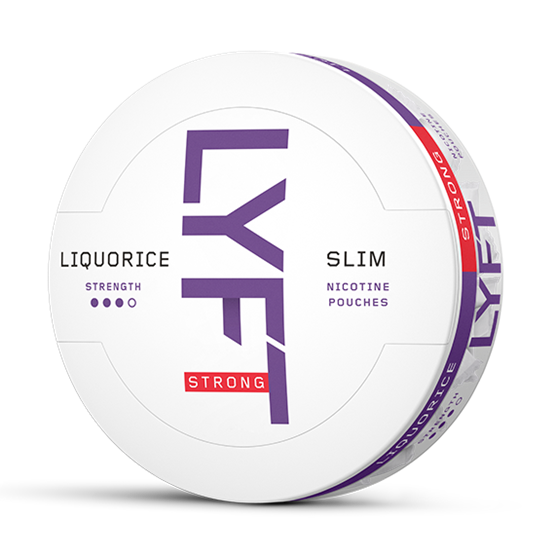 LYFT LIQUORICE STRONG SLIM ALL WHITE
