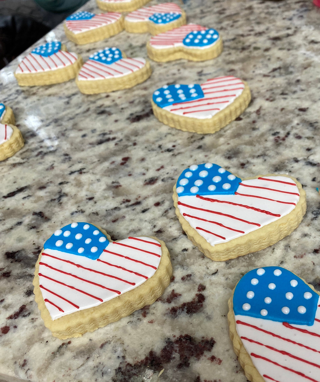 Fourth of July Themed Iced Cookies