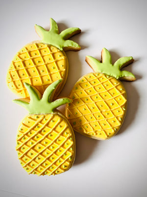 Pineapple Iced Sugar Cookies