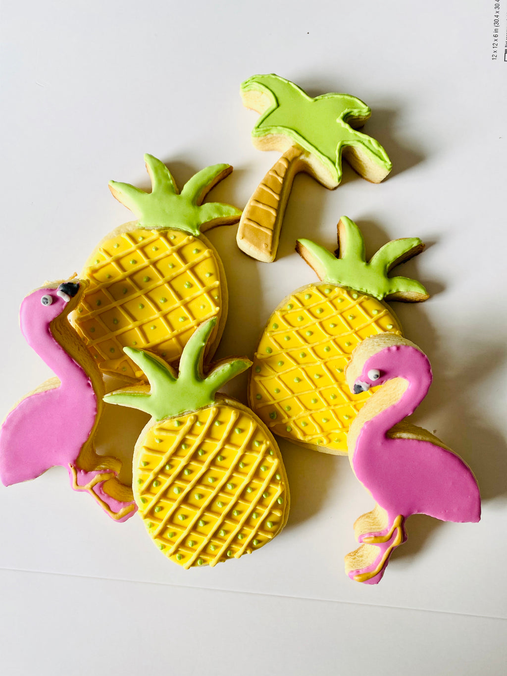 Tropical Themed Iced Sugar Cookies