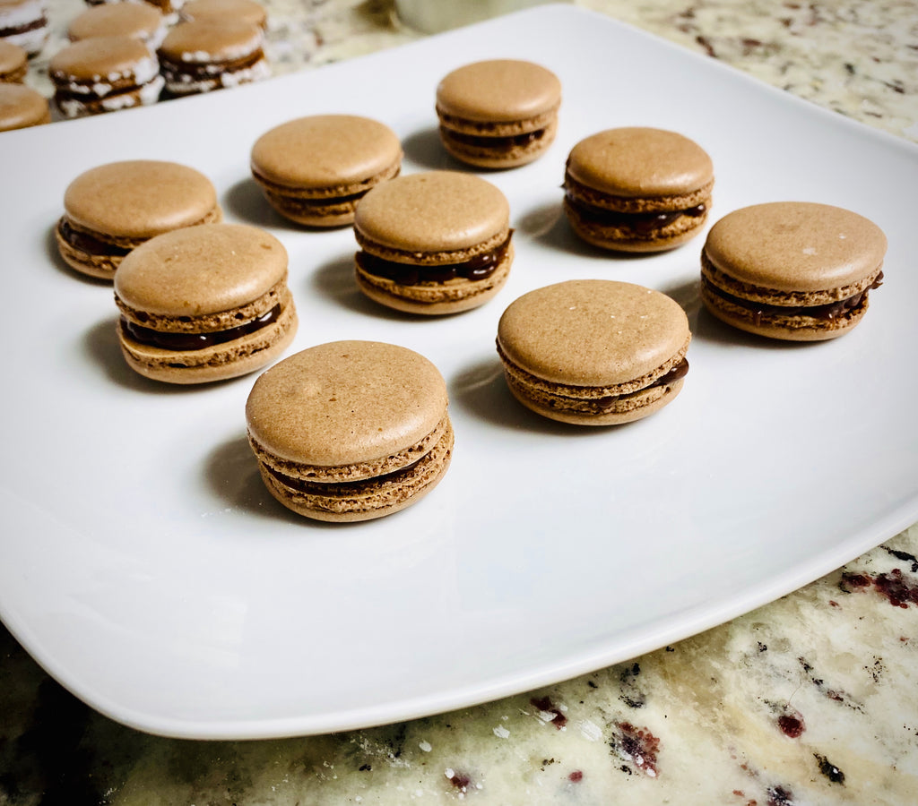 Chocolate Mini Macarons