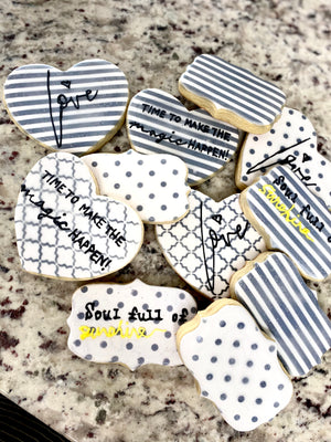 Sweet Message Themed Iced Sugar Cookies