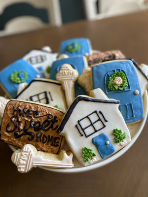 Housewarming Iced Sugar Cookies