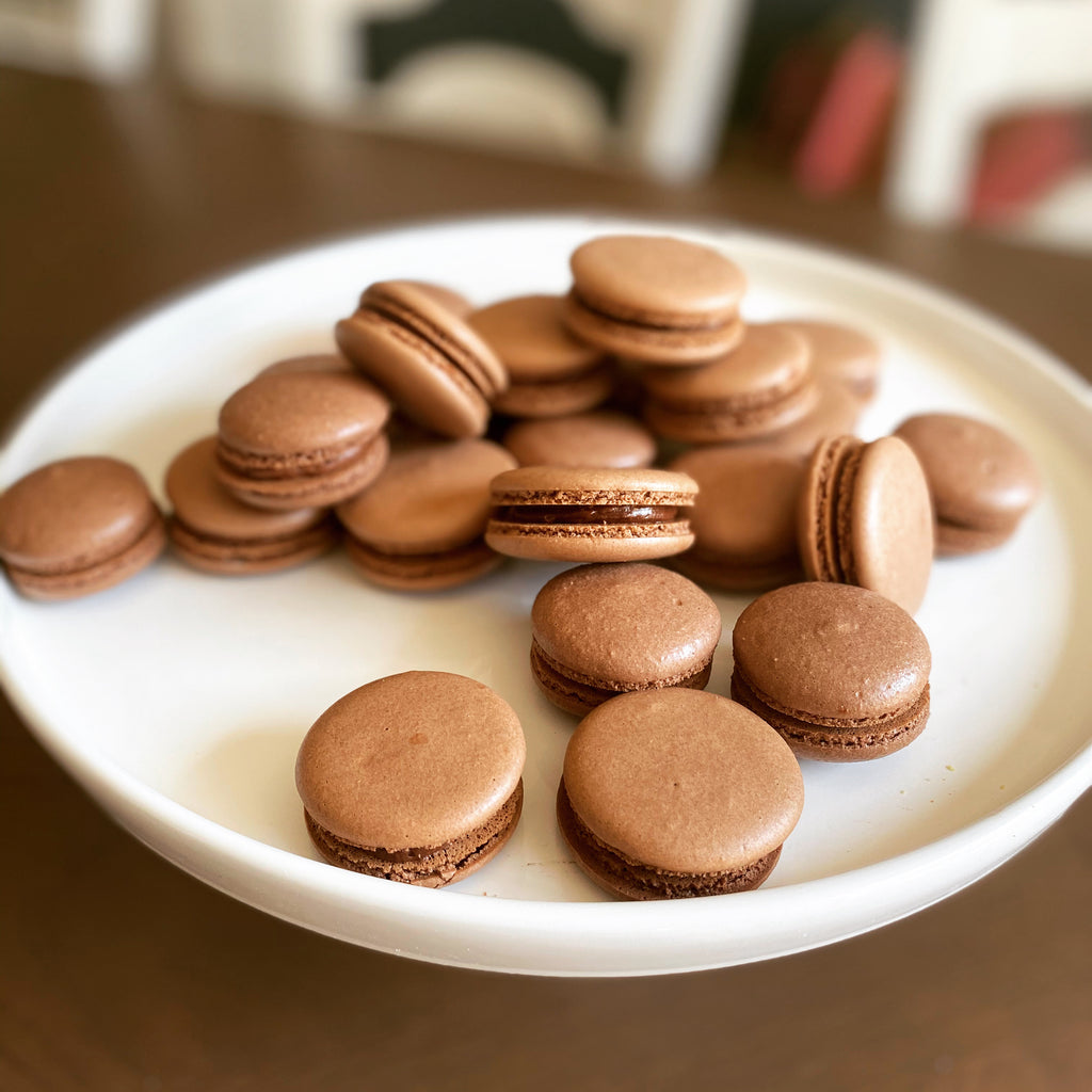Chocolate Macarons with Chocolate Buttercream