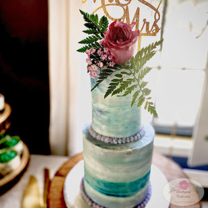 Watercolor Tiered Cake