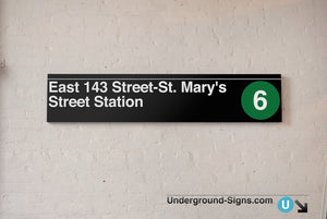 East 143 Street- Saint Mary's Street