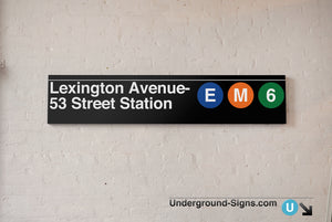 Lexington Avenue- 53 Street