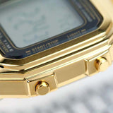 CASIO CLASSIC GOLD STAINLESS STEEL DAILY ALARM DIGITAL WATCH A178WGA-1A