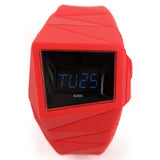 ALESSI EL GRAPHIC DISPLAY RED RUBBER WATCH AL22001