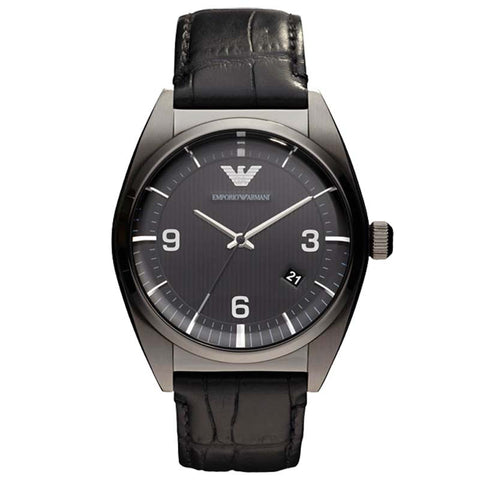 EMPORIO ARMANI CLASSICS MEN'S LEATHER QUARTZ WATCH AR0368