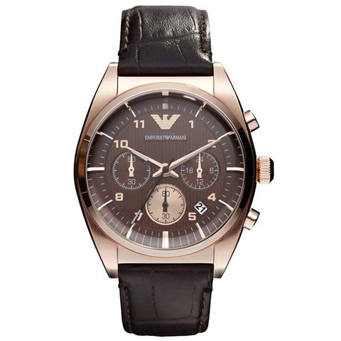 EMPORIO ARMANI ROSE GOLD CHRONOGRAPH WATCH AR0371