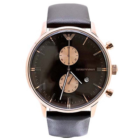 EMPORIO ARMANI ROSE GOLD CHRONOGRAPH WATCH AR0387