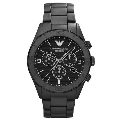 EMPORIO ARMANI CERAMICA BLACK STAINLESS STEEL MEN'S WATCH AR1458