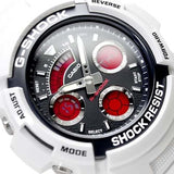 CASIO G-SHOCK CRAZY COLOR WHITE DIGITAL & ANALOG WATCH AW-591SC-7A