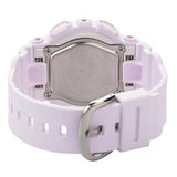 CASIO BABY-G FLOWER-IMAGE PALE VIOLET LADIES ANALOG DIGITAL RESIN WATCH BA-110-4A2