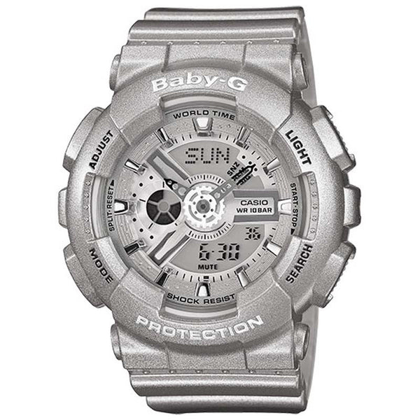 Casio Baby G Big Case Series Lady S Siver Resin Digital