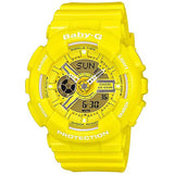 CASIO BABY-G BIG CASE SERIES LADY'S YELLOW RESIN DIGITAL WATCH BA-110-9