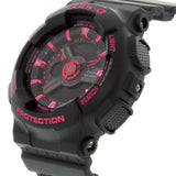 CASIO BABY-G  BLACK NEO PINK LADIES ANALOG DIGITAL RESIN WATCH BA-111-1A