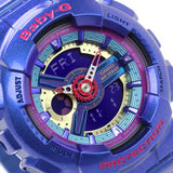 CASIO BABY-G BLUE & PINK CASTING LADY DIGITAL ANALOGUE WATCH BA-112-2A