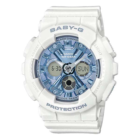 CASIO BABY-G METALLIC FACE DIGITAL & ANALOG WOMEN'S RESIN WATCH BA-130-7A2