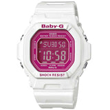 CASIO BABY-G WORLD TIME LADIES WHITE RESIN PINK DIAL WATCH BG-5601-7D