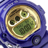 CASIO BABY-G BLUE GOLD LARGE MIRROR FACE SPORT DIGITAL WATCH BG-6900-2D