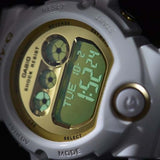 CASIO BABY-G GOLD LARGE MIRROR FACE WHITE RESIN DIGITAL WATCH BG-6901-7D