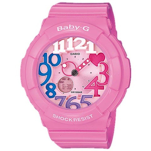 CASIO BABY-G NEON ILLUMINATOR SERIES PINK COLOR WATCH BGA-131-4B3