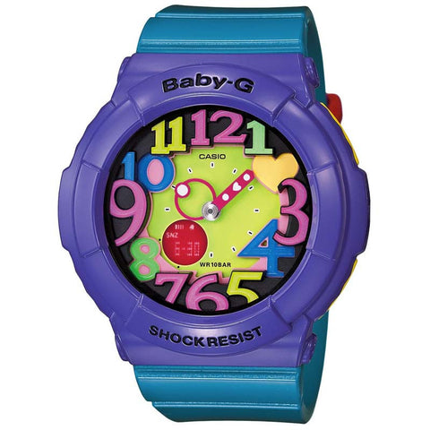 CASIO BABY-G CRAZY NEON SERIES BLUE x PURPLE WATCH BGA-131-6B