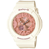CASIO BABY-G IVORY AND ROSE GOLD NEON ILLUMINATOR WATCH BGA-131-7B2