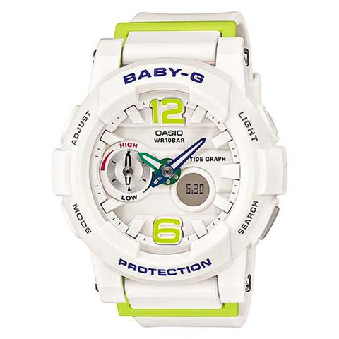 CASIO BABY-G G-LIDE MULTI-DIMENSIONAL SCULPTURED DESIGN LADIES RESIN WATCH BGA-180-7B2