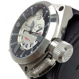 BALLAST MEN'S GMT SWISS MADE QUARTZ DATE SILICON STRAP WATCH BL-3108-02