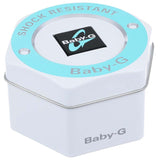 CASIO BABY-G METALLIC MULTI-COLOR FACE WHITE RESIN WATCH BA-112-7A