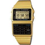 CASIO GOLD TONE 25 MEMORY CALCULATOR DATABANK DIGITAL WATCH DBC611G-1D