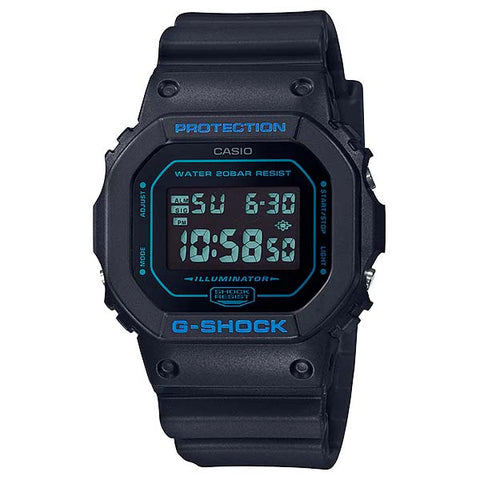 CASIO G-SHOCK ILLUMINATOR MATTE BLACK MONOTONE RETRO MEN'S WATCH DW-5600BBM-1